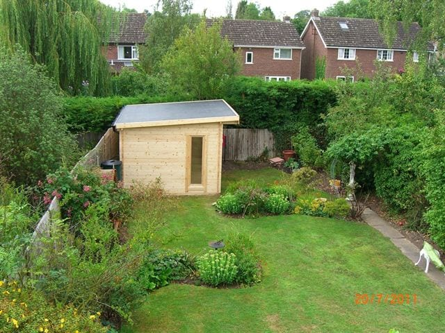 Garden Shed Epdm flat roof