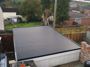 Garage Flat Roof Epdm roofing