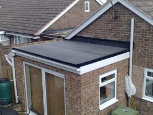 Flat Roof Home Extension Epdm roofing